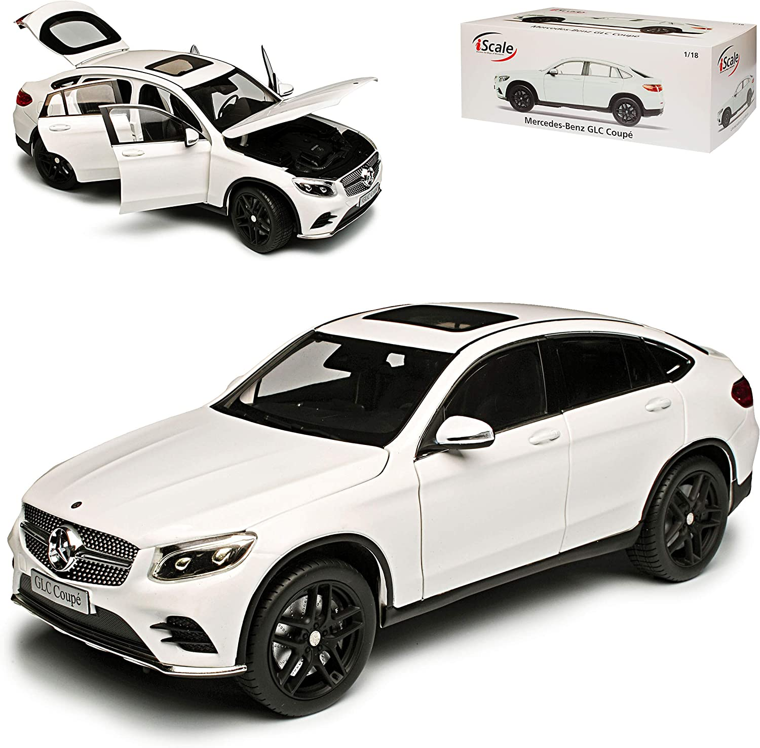 1:18 iScale Mercedes GLC-Class  Coupe 2018 black