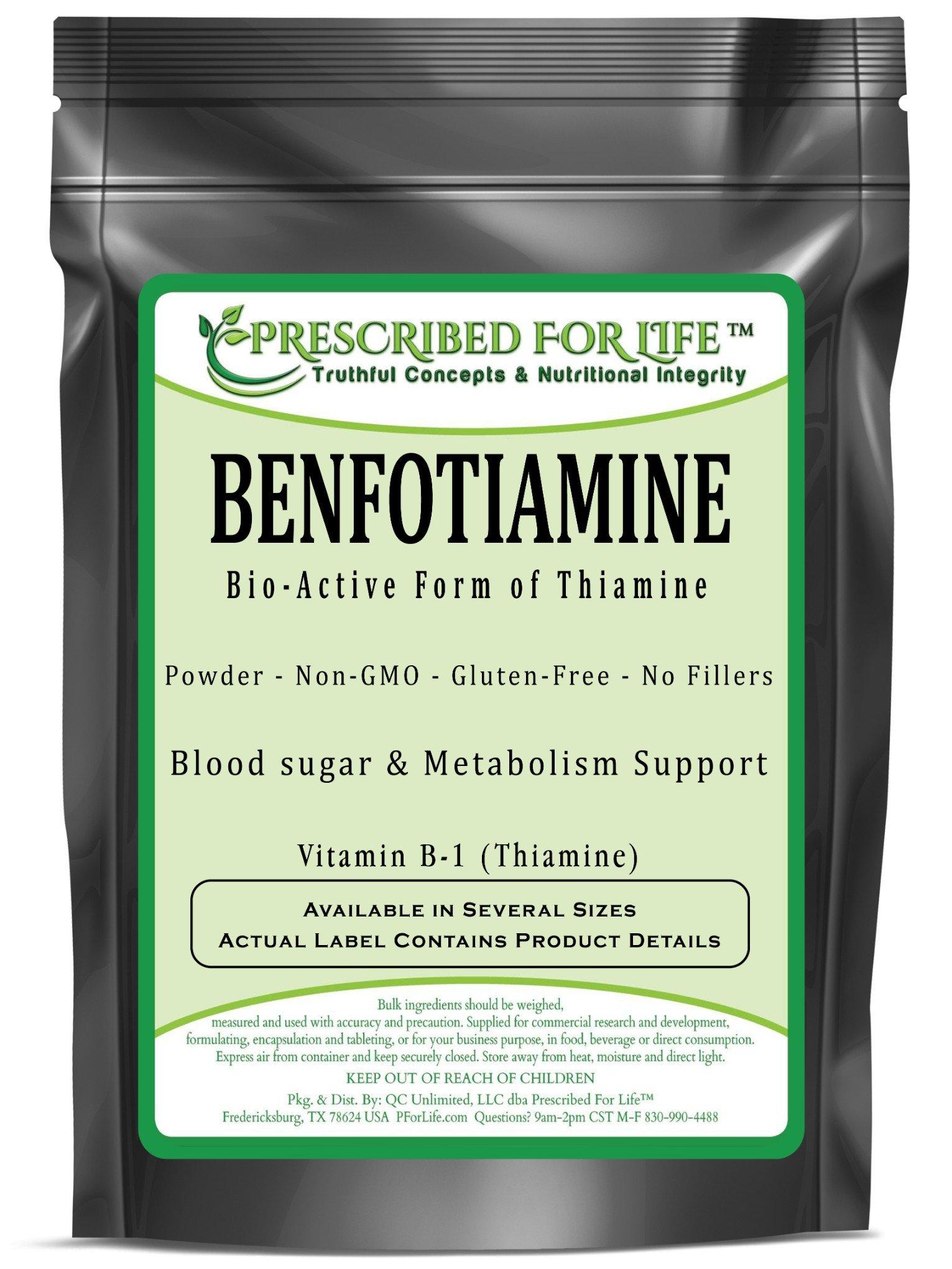 Benfotiamine - BioActive Form of Thiamine - Vitamin B-1 Powder, 2 oz