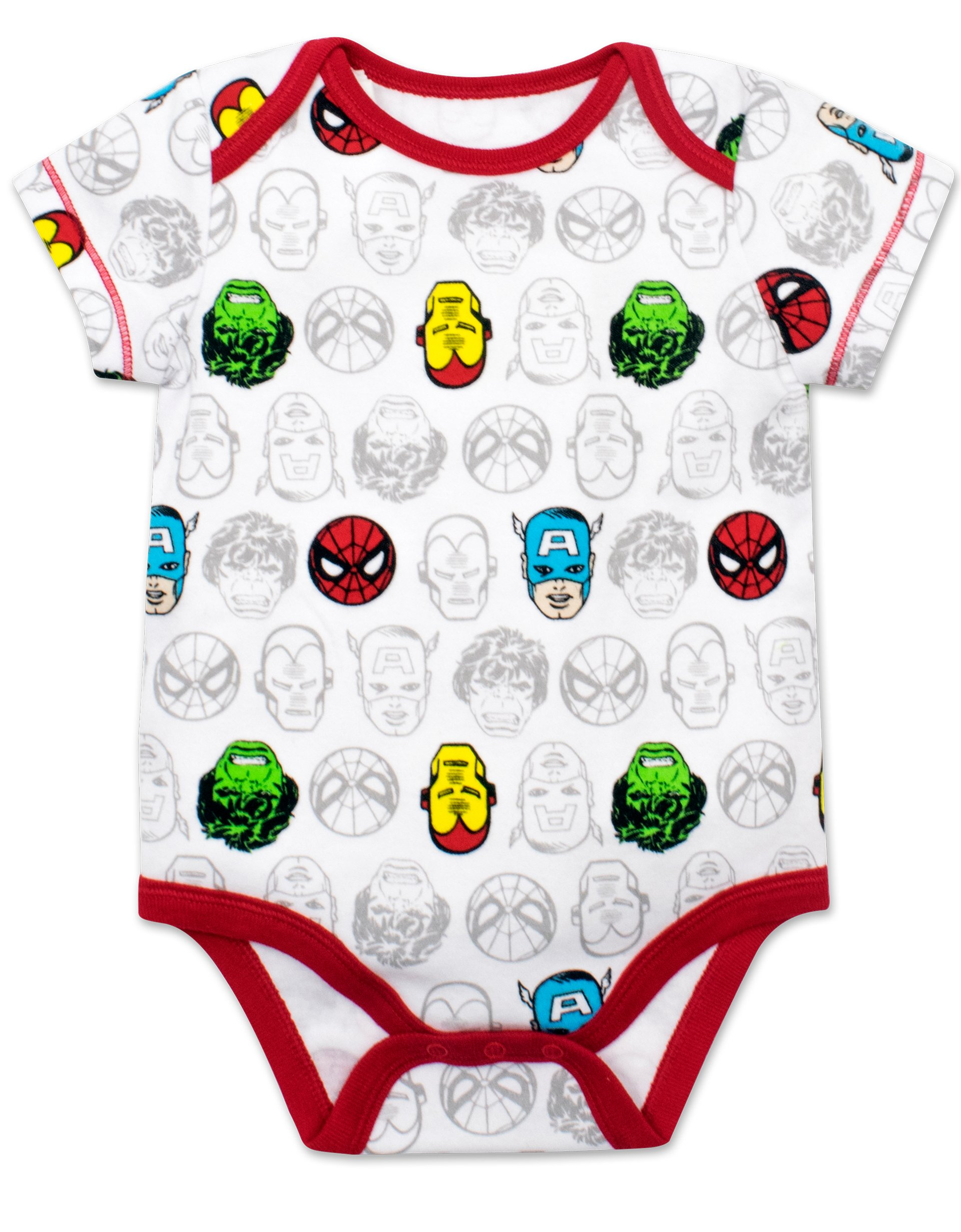 Marvel Baby Boys' 5 Pack Onesies - The Hulk, Spiderman, Iron Man and Captain America (3-6 Months) by Marvel (Image #4)