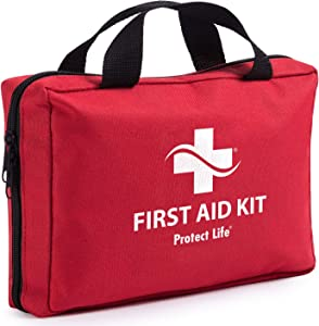 First Aid Kit for Car, Home, Traveling, Camping, Office or Sports   200 Pieces Bag Equipped with Medical Supplies