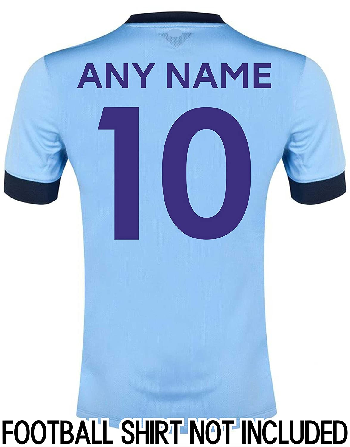 FOOTBALL SHIRT NAME AND NUMBER  Amazon.co.uk  Clothing 018a0b0ab