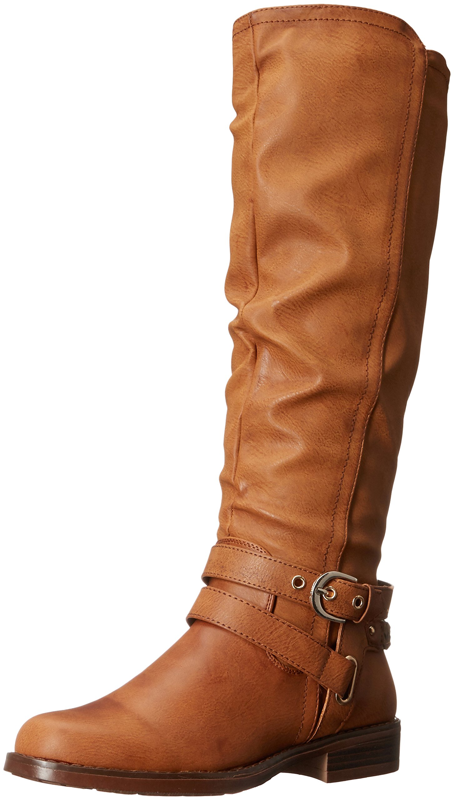 XOXO Women's Martin Wc Riding Boot, Tan, 8 M US