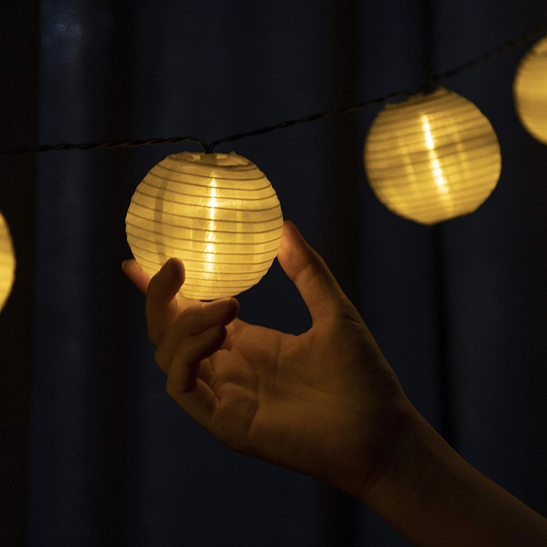 Beslands Solar Lantern String Lights 6.3M / 20.7fts 30 LEDs Indoor Outdoor Decorative Fairy Lanterns Stringed Lights for Party, Garden, Decorations ( Warm White )
