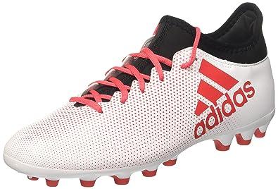 b07d572da adidas Men's X 17.3 Ag Footbal Shoes White Ftwwht/Reacor/Cblack 6 UK
