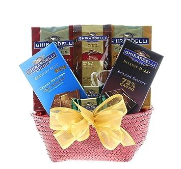Image Unavailable  sc 1 st  Amazon.com & Amazon.com : Wine.com The Best of Ghirardelli Gift Basket : Gourmet ...