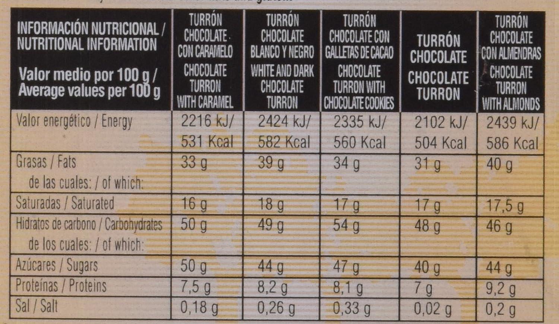 Bandeja turrones de chocolate El Almendro 375g: Amazon.es: Alimentación y bebidas