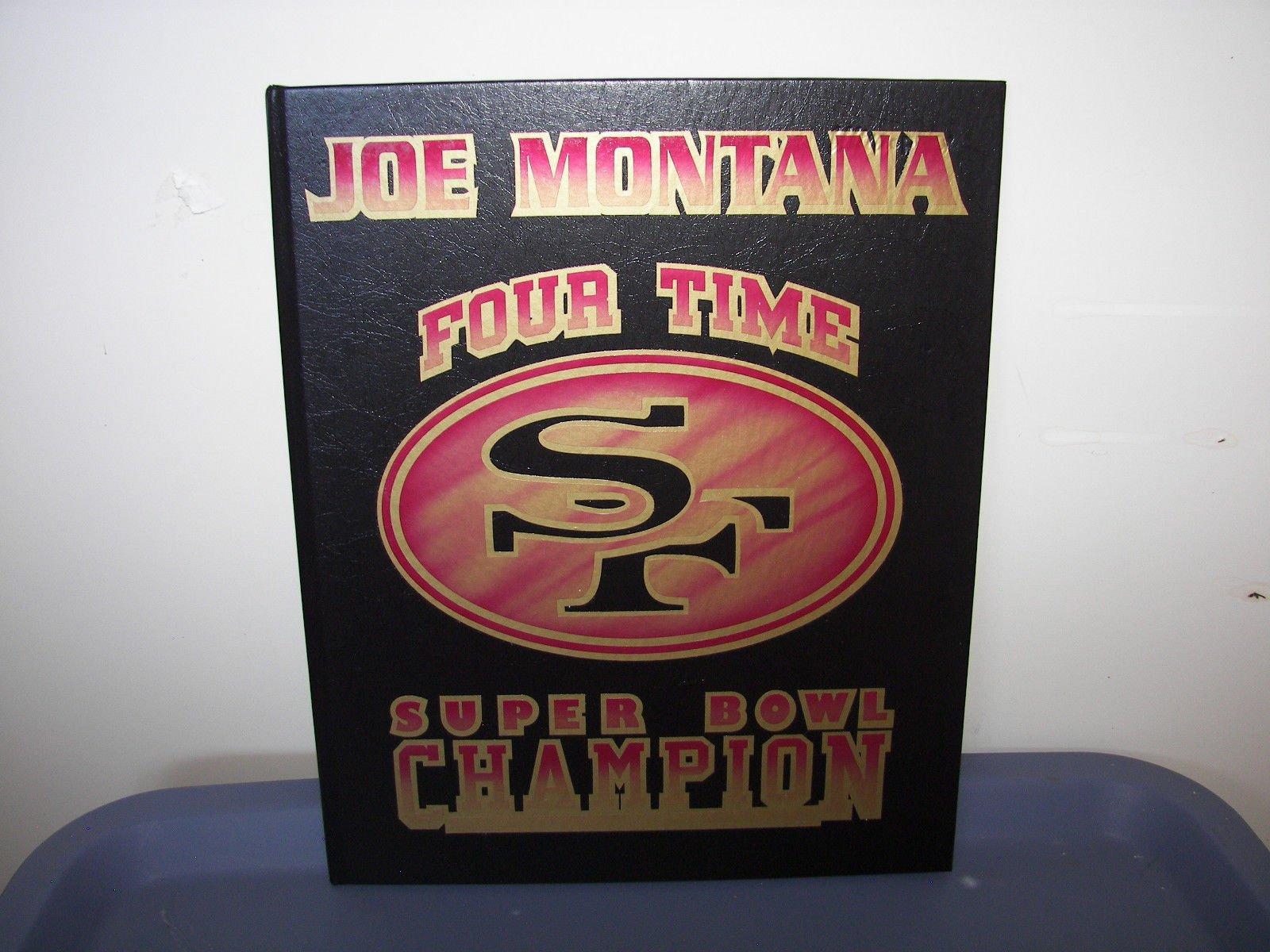 Joe Montana 49ers Signed Autograph Football 8x10 Photo Coffee Table Book AUTO