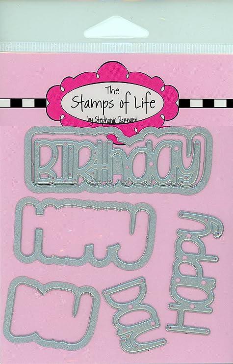 Los sellos de la vida feliz cumpleaños palabras troqueles ...
