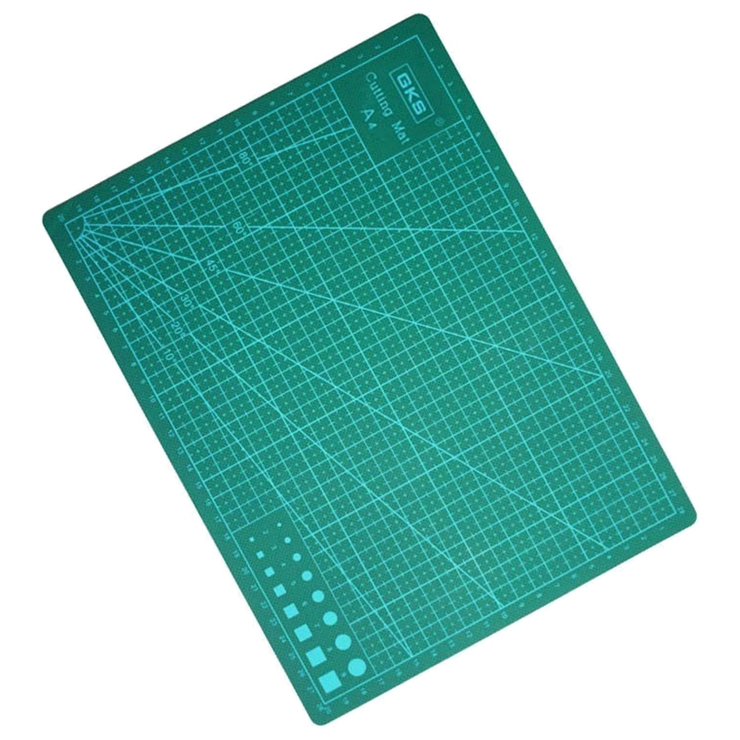 Elisona-A4 Size Anti-slip PVC Professional Self Healing Cutting Mat for Quilting Sewing Craft Cutting Green