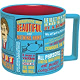 Kurt Vonnegut Coffee Mug - Vonnegut's Most Famous Quotes - Comes in a Fun Gift Box - by The Unemployed Philosophers Guild