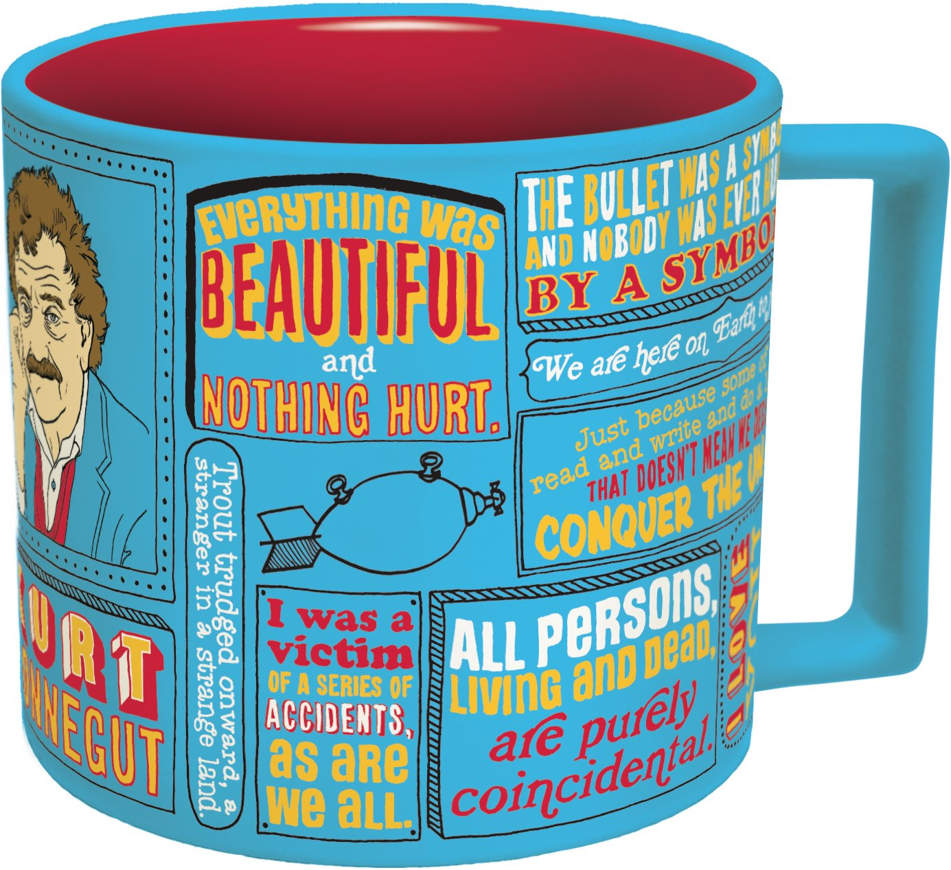 Amazon Kurt Vonnegut Coffee Mug Vonneguts Most Famous Quotes