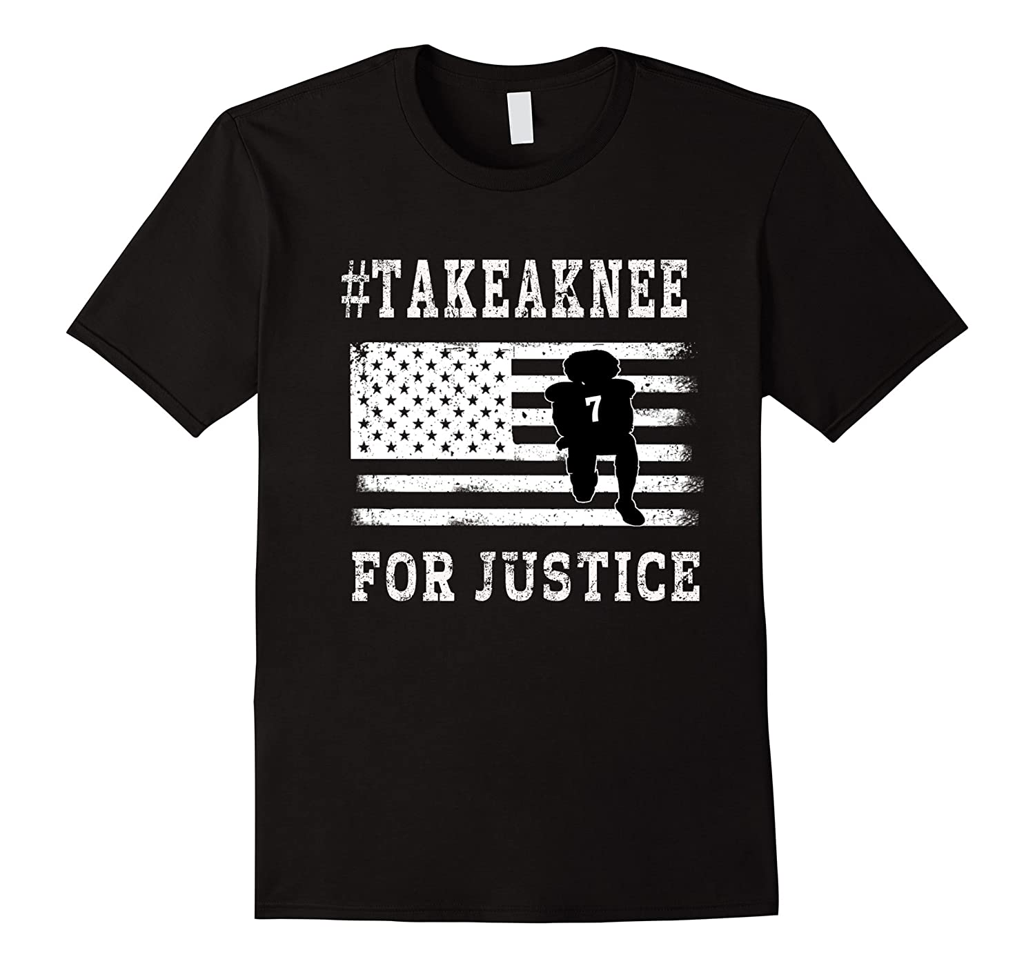 Take A Knee Shirt For Justice #ImwithKap Black Equality Tees-FL
