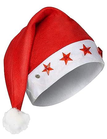 Berretto luminoso da Babbo Natale  Amazon.it  Giochi e giocattoli b43c85ac2439