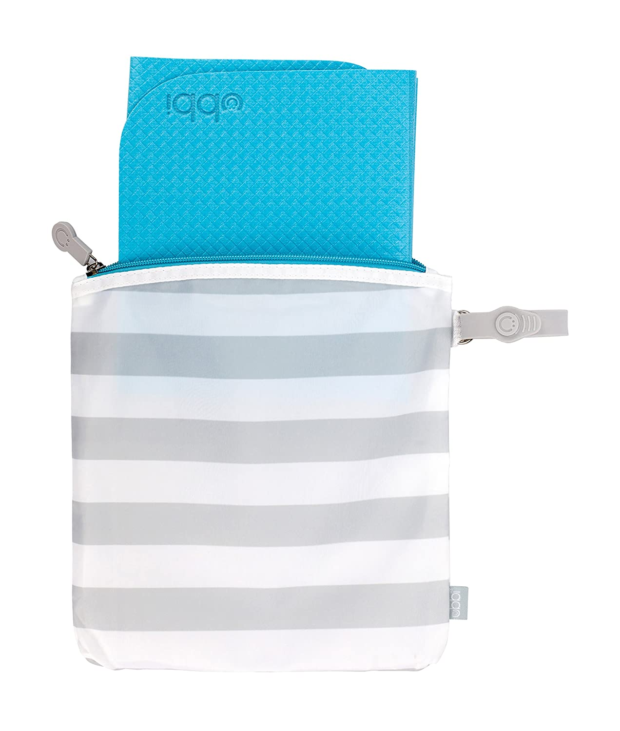 Ubbi On The Go Travel Diaper Gray and White Changing Mat Bag Baby Gift Pearhead 10164