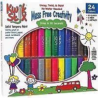 The Pencil Grip TPG-604 Kwik Stix Tempera Paint Pack of 24, Grade:Kindergarten to 12, Assorted  (Pack of 24)