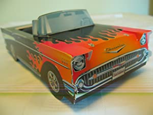 6 Classic Hot Rod Cars Kids Food Box Party Planner Favor