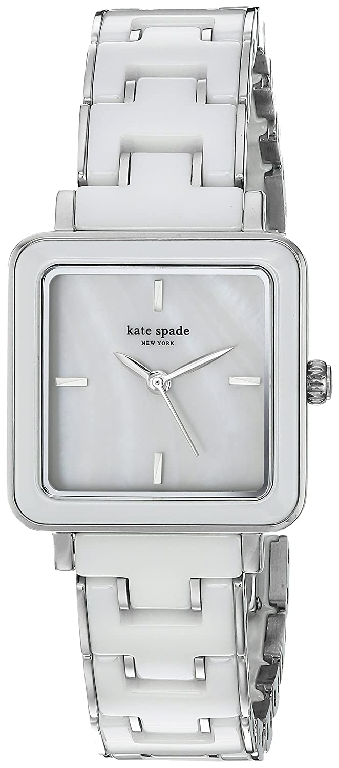 Modern Square Dial Watches Clothing Shoes Jewelry Fossil Idealist Silver Es4194 Womens Washington Quartz Stainless Steel And Ceramic Casual Watch Colorwhite