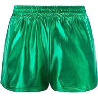 Kate Kasin Women's Shiny Metallic Hot Pants Casual Loose Yoga Shorts