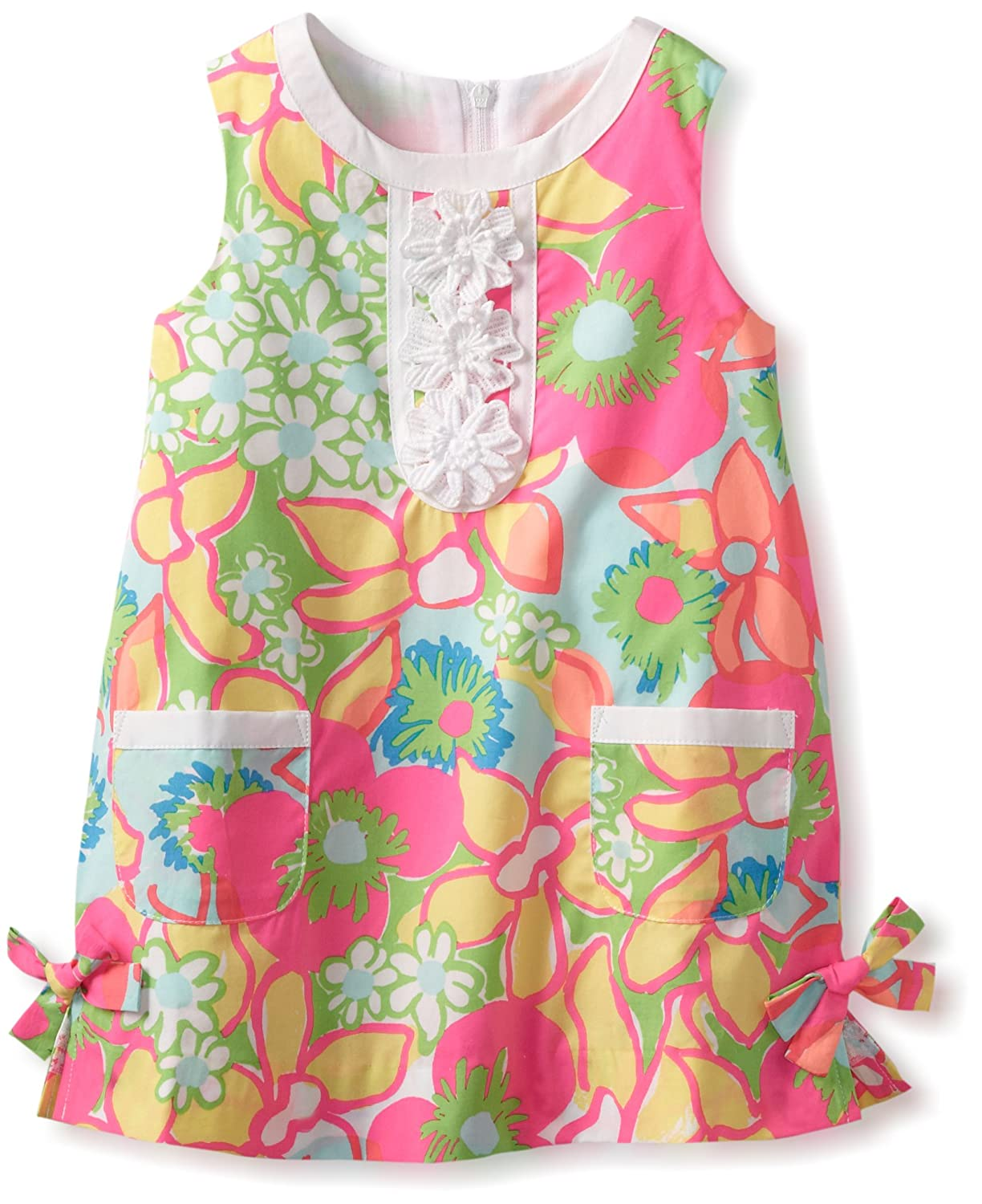 Qualified Girl's Lilly Pulitzer 3 Patchwork Pink Green Sleeveless Shift Clothing, Shoes & Accessories