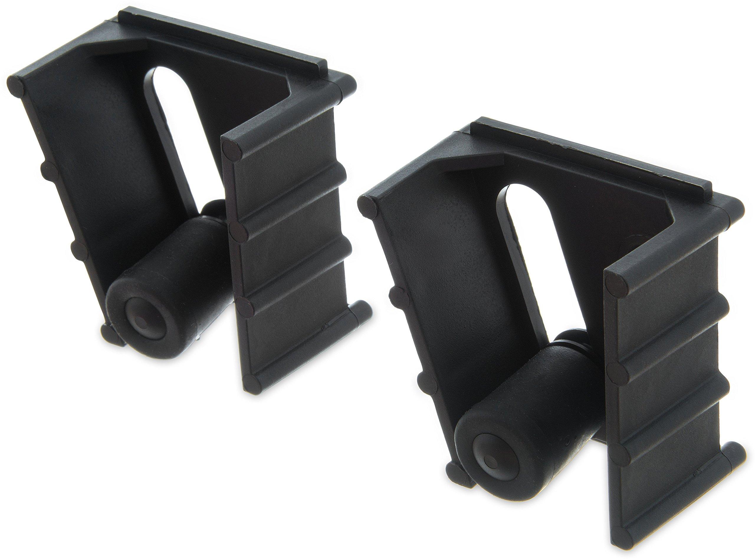 Carlisle 4073200 Roll 'N Grip Plastic Holder with Wood Screws, 2-1/2'' L x 3-3/4'' W x 1/2'' H (Case of 12)