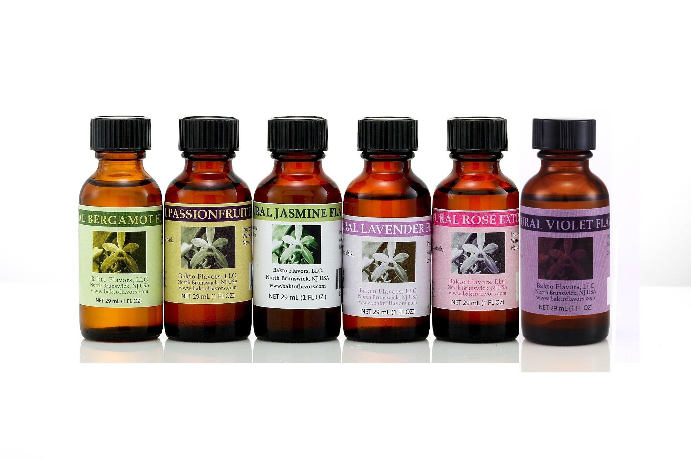 Floral Collection - 6 (1 FL OZ) Bottles - Bergamot, Passionfruit, Jasmine, Lavender, Rose, Violet
