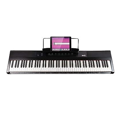 RockJam RJ88DP - Teclado de piano digital para principiantes de 88 teclas de tamaño medio y