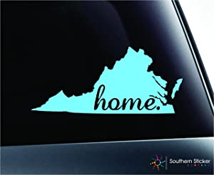 ExpressDecor #2 Home Virginia Symbol Decal Family Love Car Truck Sticker Window (Mint)