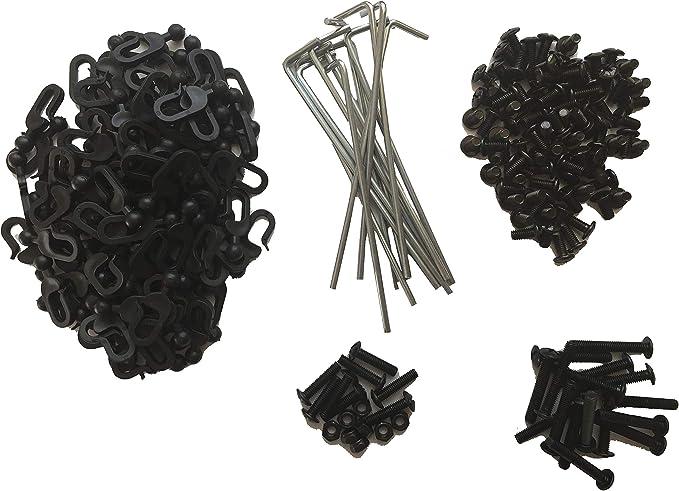 noir I JARDINI 39160 Glissières en plastique pour tonnelle Sahara