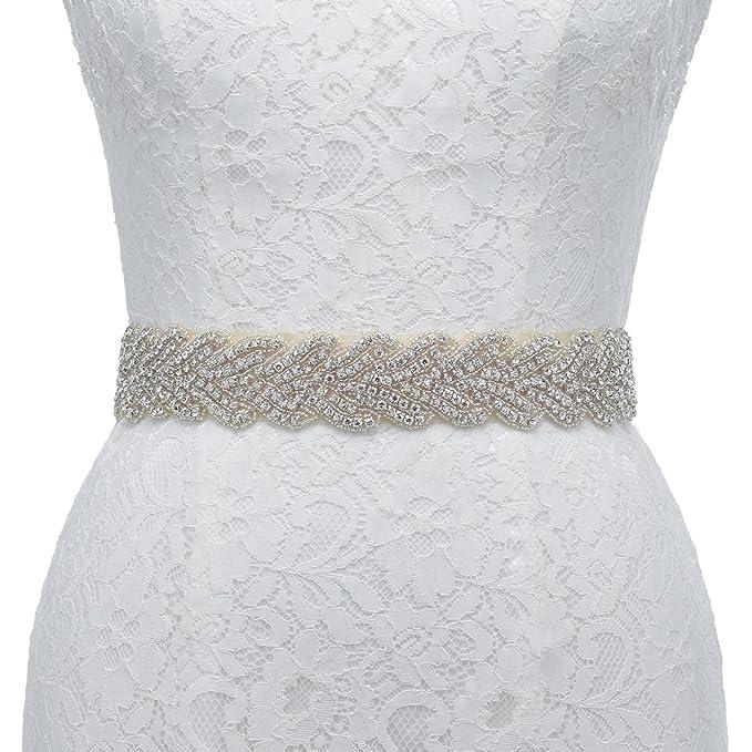 Remedios Cinturón Cinturones de Diamantes Para las Vestido de Novia Encaje Chifón Decoración de la Boda
