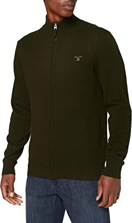 GANT MD. Extrafine Lambswool Zip Card. Suéter para Hombre