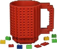 Redlemon Taza de Bloques Armables, Taza para Café y Bebidas Calientes