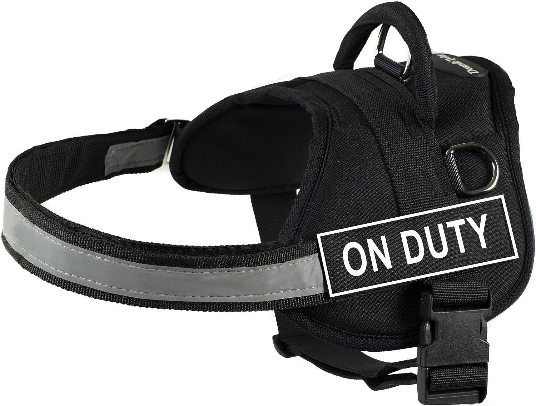 DT Works ハーネス On Duty ブラック/ホワイト サイズ:XS 適合胴回り53cm~66cm