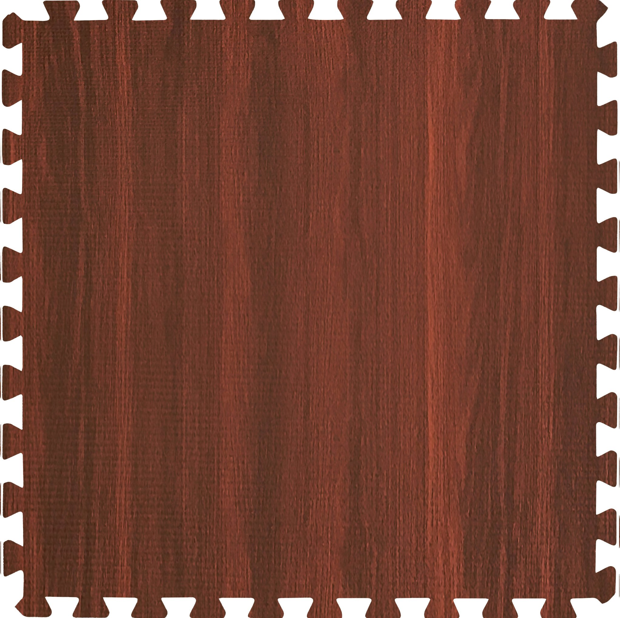 Sorbus Wood Floor Mats Foam Interlocking Wood Mats Each Tile 4 Square Feet 3/8-Inch Thick Puzzle Wood Tiles with Borders – for Home Office Playroom Basement (6 Tiles 24 Sq ft, Wood Grain - Cherry) by Sorbus (Image #2)