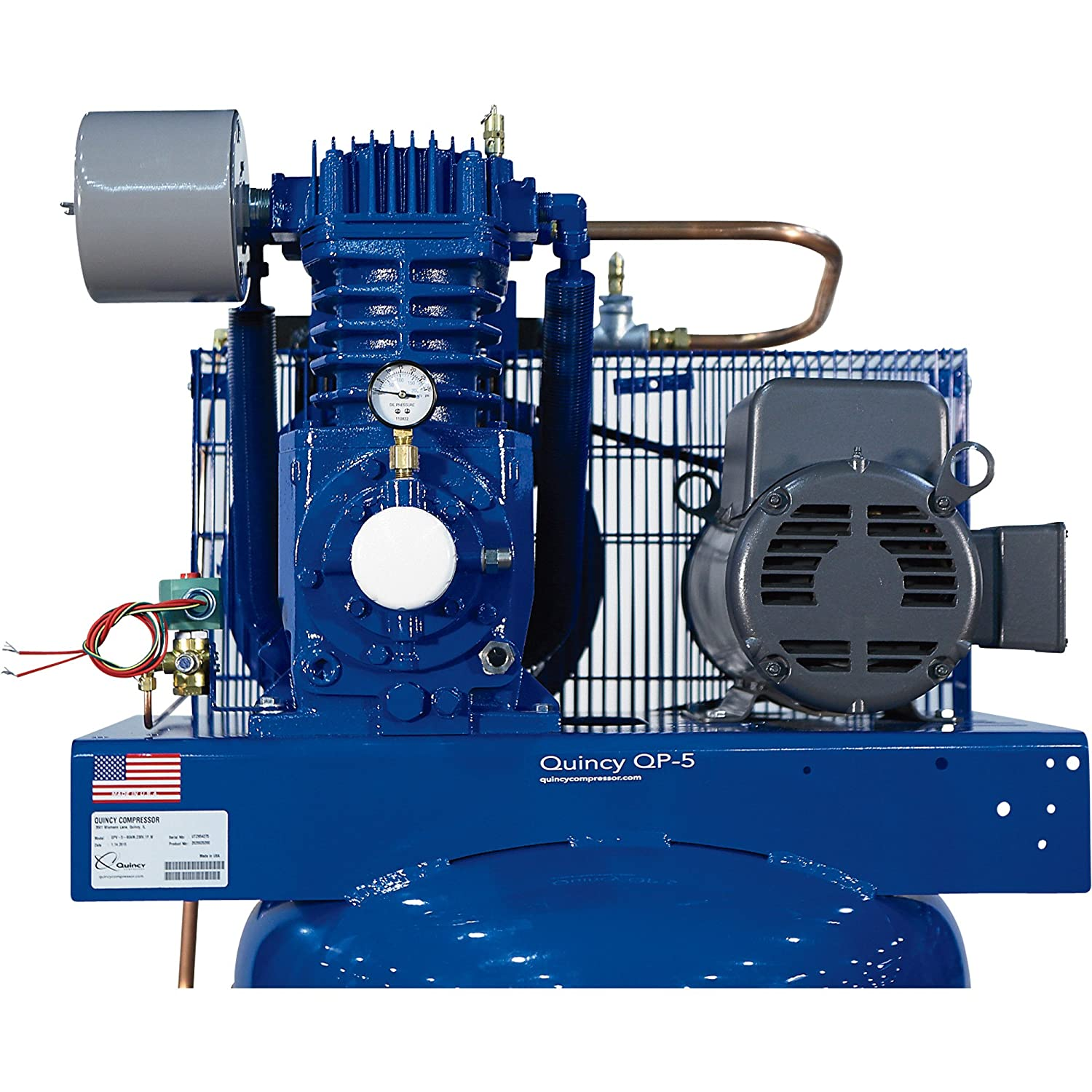 Quincy Qp 75 Pressure Lubricated Reciprocating Compressor Qt 10 Wiring Diagram Hp 230 Volt 3 Phase 80 Gallon Vertical Model 373ds80vca23 Home
