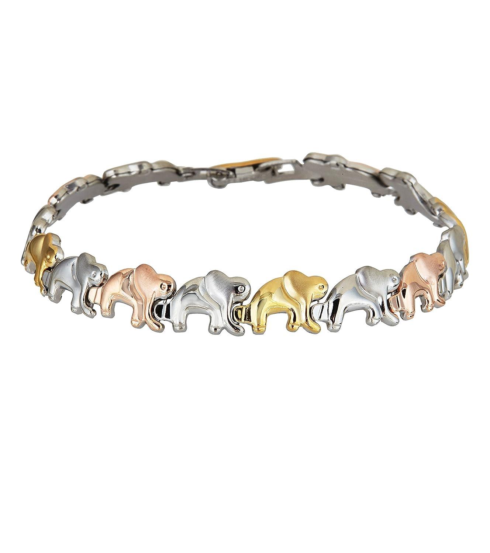 Amazon.com: pulsera para mujer Buena Suerte Elefante Tri ...