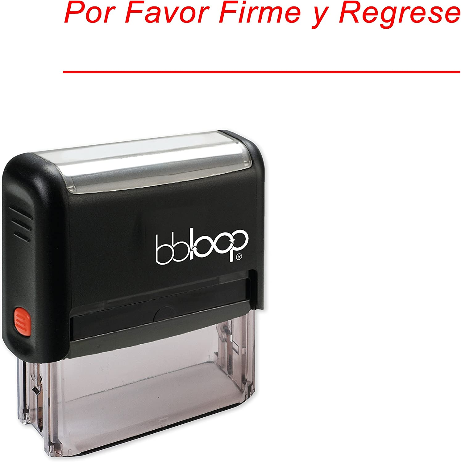 """""""Por Favor Firme Y Regrese Stamp in Spanish"""" Self-Inking Rubber-Stamp"""