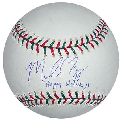 66cfc264beb Mike Figga Signed Happy Holidays Sports Rawlings Ball Ny Yankees ...