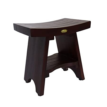 Amazing Decoteak Serenity 18 Eastern Style Teak Shower Bench Stool Gmtry Best Dining Table And Chair Ideas Images Gmtryco