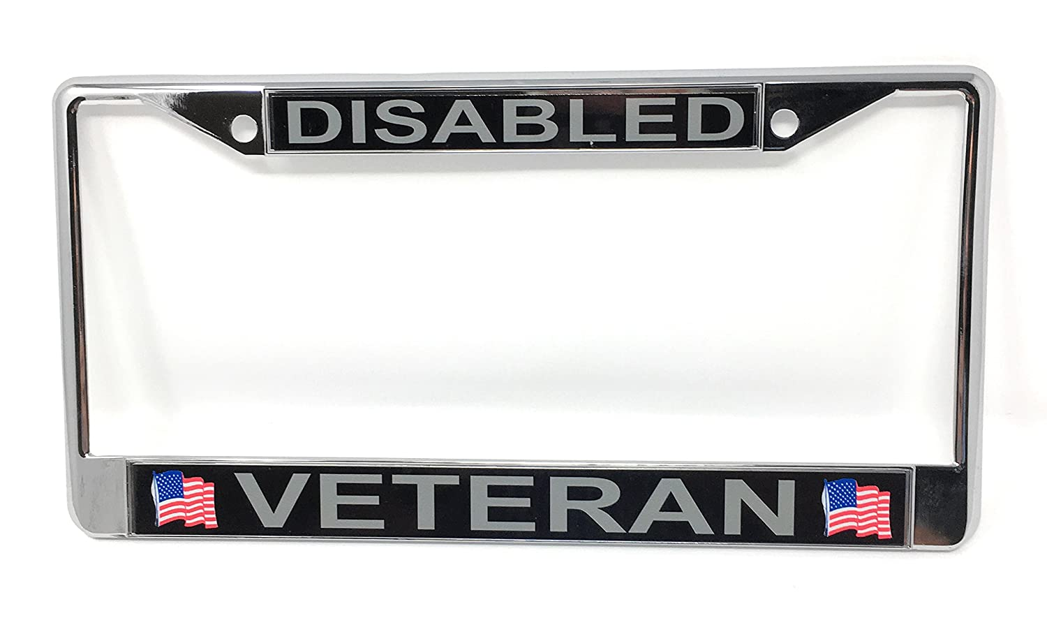 Amazon.com: Disabled Veteran Chrome License Plate Frame: Automotive