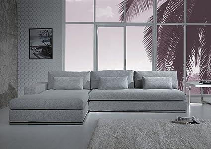 Amazon.com: Ashfield Modern Light Grey Fabric Sectional Sofa ...