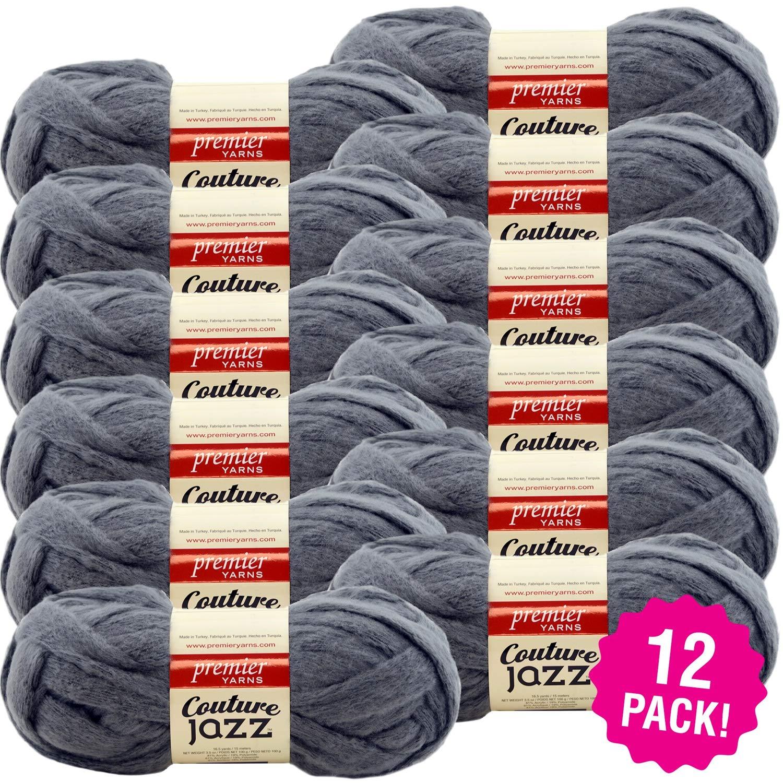 Premier 99515 Couture Jazz Yarn 12/Pk-Slate, Pack