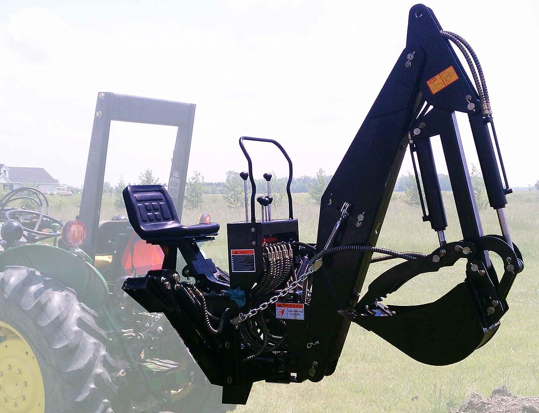 Amazon com 7 ft 3 point backhoe with thumb excavator attachments kubota deere home improvement
