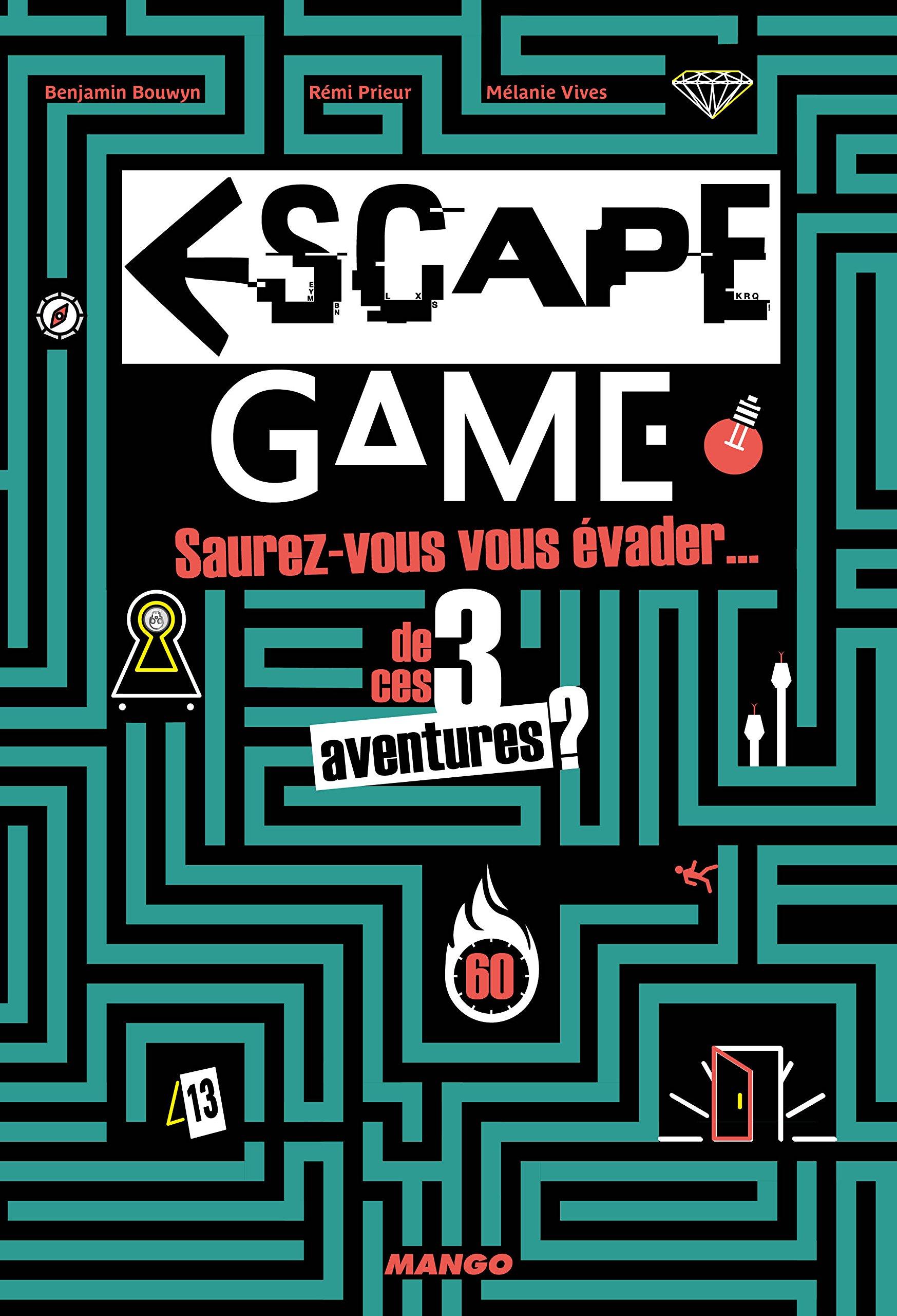 Amazon Fr Escape Game Benjamin Bouwyn Remi Prieur