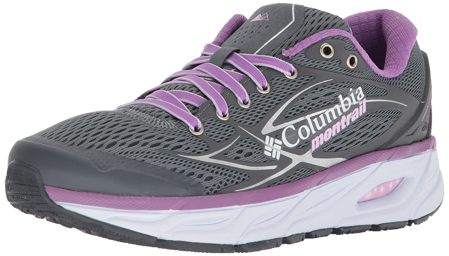Columbia Montrail Women's Variant X.S.R. Trail Running Shoe B072WJLLKY 8.5 B(M) US|Grey Ash, Phantom Purple