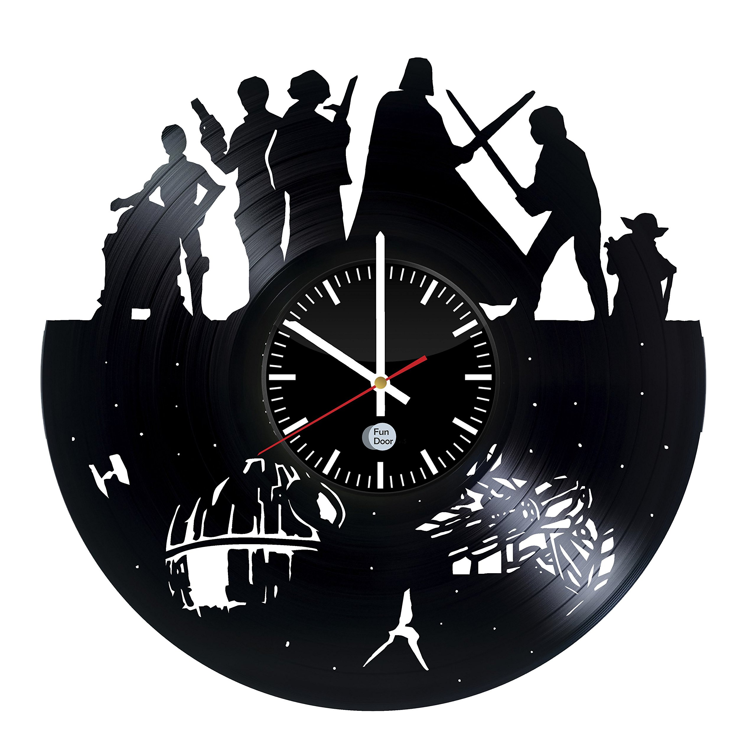 STAR WARS Movie Characters Design handmade vinyl record wall clock - Best gift