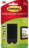 Command Picture Hanging Strips, Medium, Black, 4-Strip, 6-Pack (24 Pairs Total)