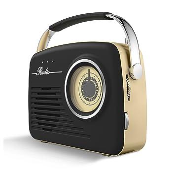 Akai A60014 AM/FM Vintage Retro Radio, Portable Design with SD and ...