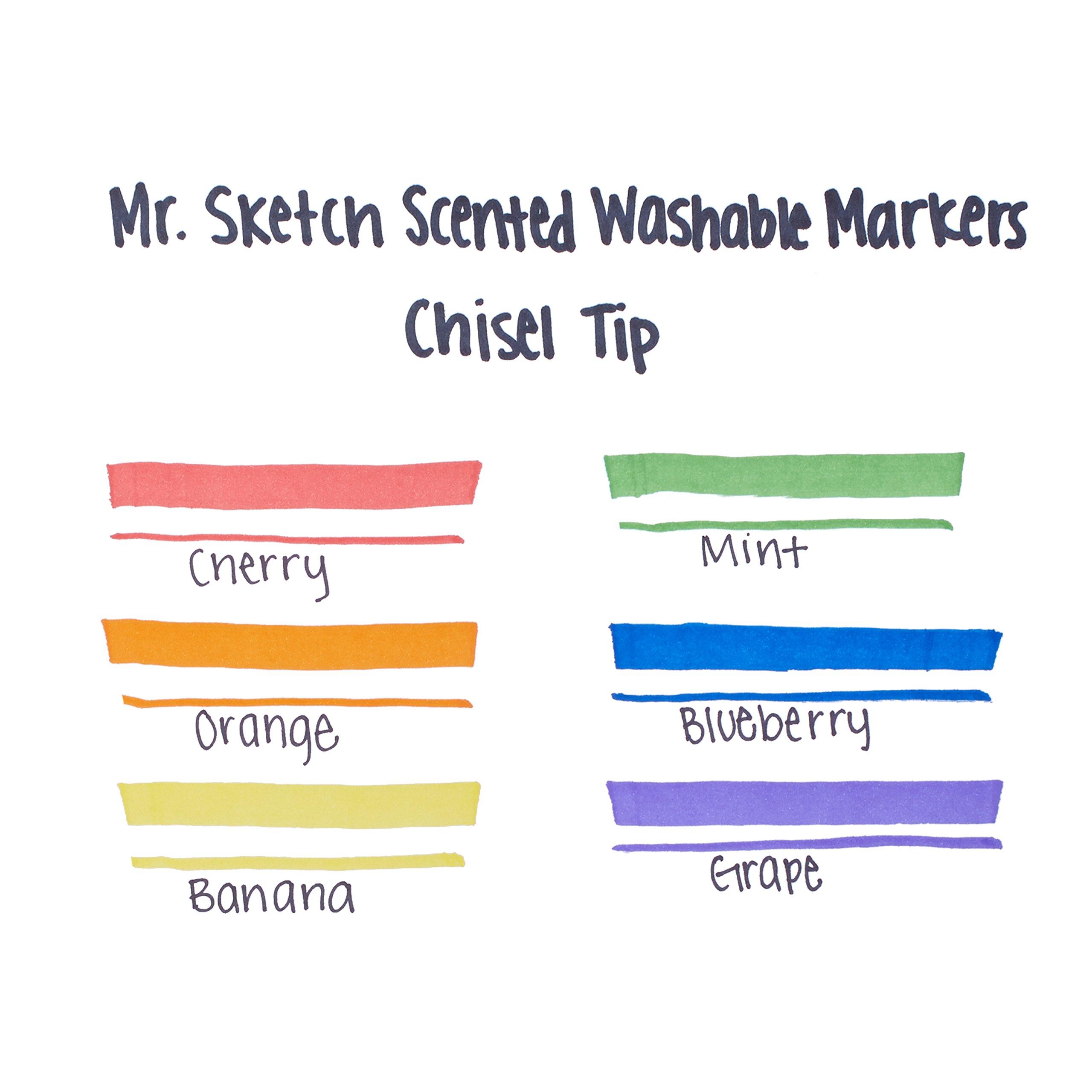 Mr. Sketch Scented Washable Markers, Chisel-Tip, Set of 6 by Mr. Sketch (Image #3)