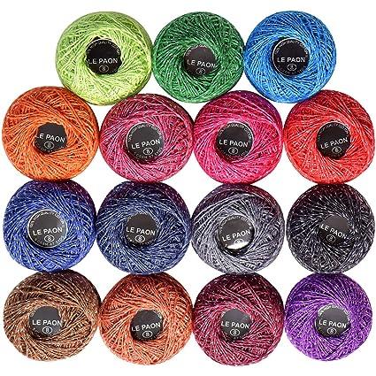 Amazon.com: LE PAON - Lote de 15 piezas de hilo de algodón ...