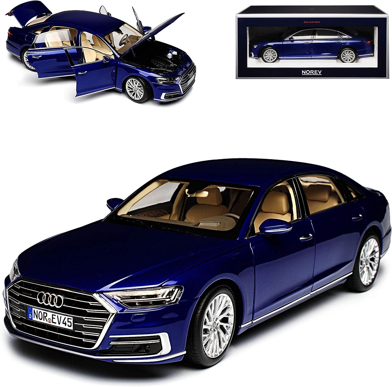 A-U-D-I A8 L D5 4N Limousine Blau Metallic Ab 2017 1//18 Norev Modell Auto